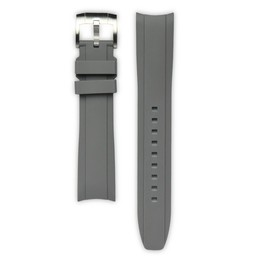 Everest Rolex straps Rubber Strap with Tang Buckle Grey, EH5GRY