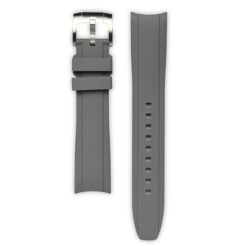 Everest Rolex straps Everest Rubber Strap with Tang Buckle Grey, EH5GRY