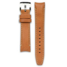 Everest Rolex straps Leather Strap with Tang Buckle Curved End Tan ABS, EH8TAN