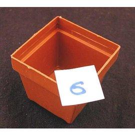Pots carrés couleur argile 5 x 5 x 4,5 cm