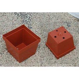 Square pots clay colored 9 x 9 x 7.4