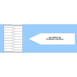 Laser print labels SEMI 18