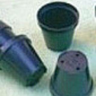 Mini Rundtöpfe schwarz 4 cm