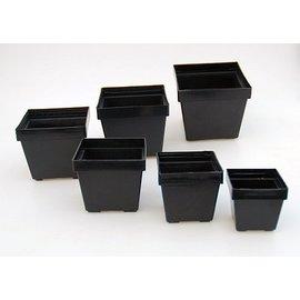 Square pots black 10 x 10 x 8.4 cm