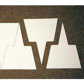 Etiquettes trapézoïdales - simples -