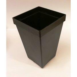 Conteneurs carré pots hauts 7 x 7 x 11 cm