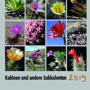 Calendrier Cactées et plantes succulentes 2019