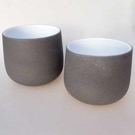 Pots graphite-white