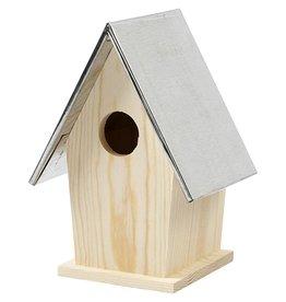 Vogelhuis met zinken dak