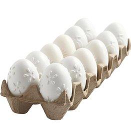 Eieren wit plastiek