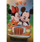 Diamant mozaïek Mickey verliefd