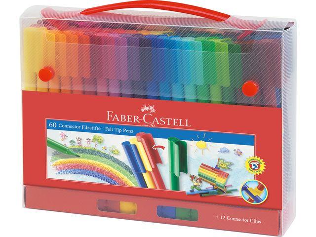 Faber Castell Faber Castell connectorstiften in doos 60 stuks