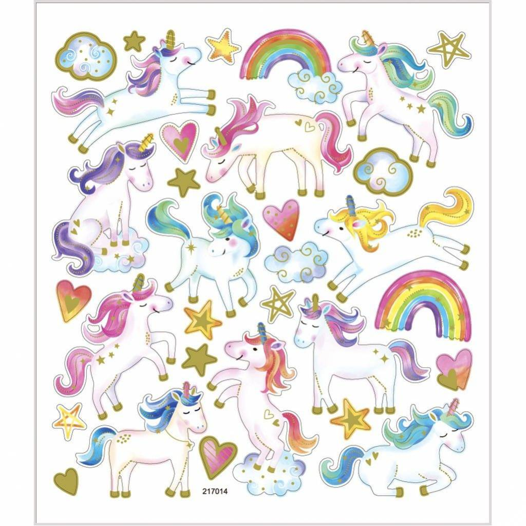 Glitterstickers unicorn
