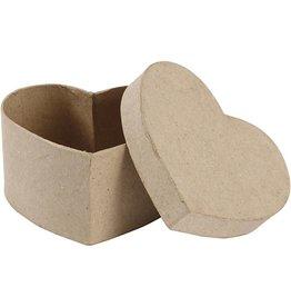 Harten doosje papier-mâché
