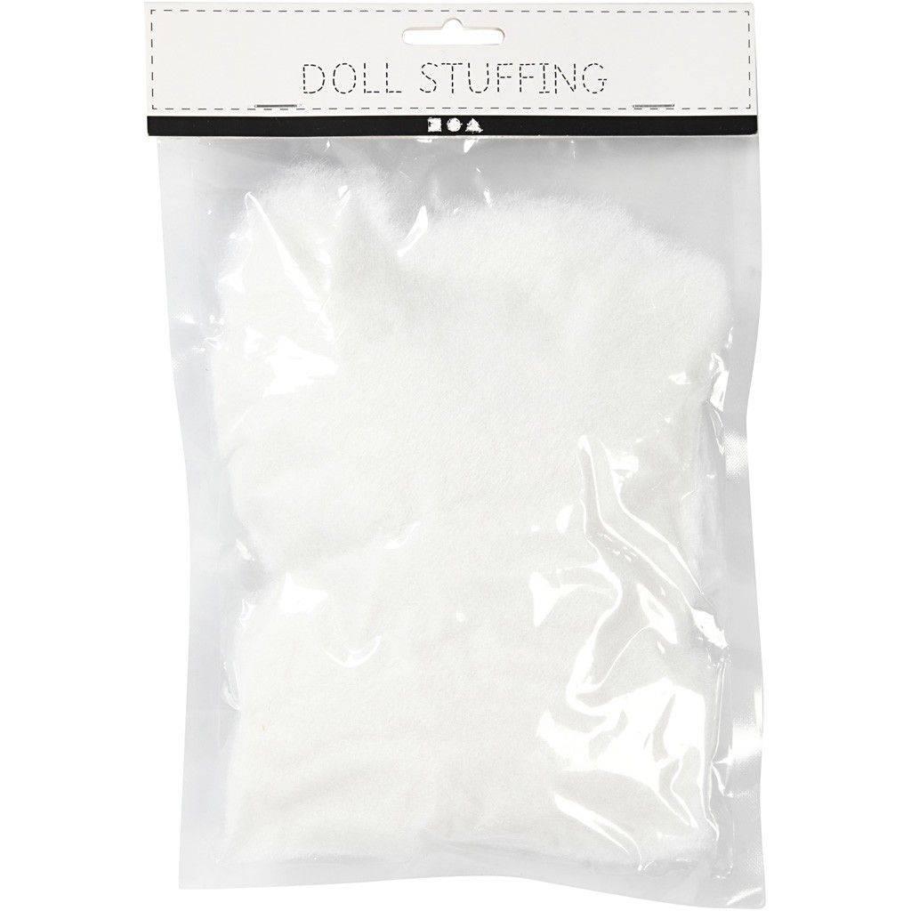 Poppenvulling wit 50 gr
