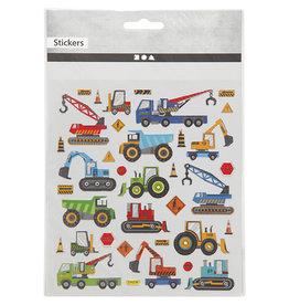 Stickers bouwplaats voertuigen