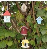 vogelhuisje hout met kartelrand