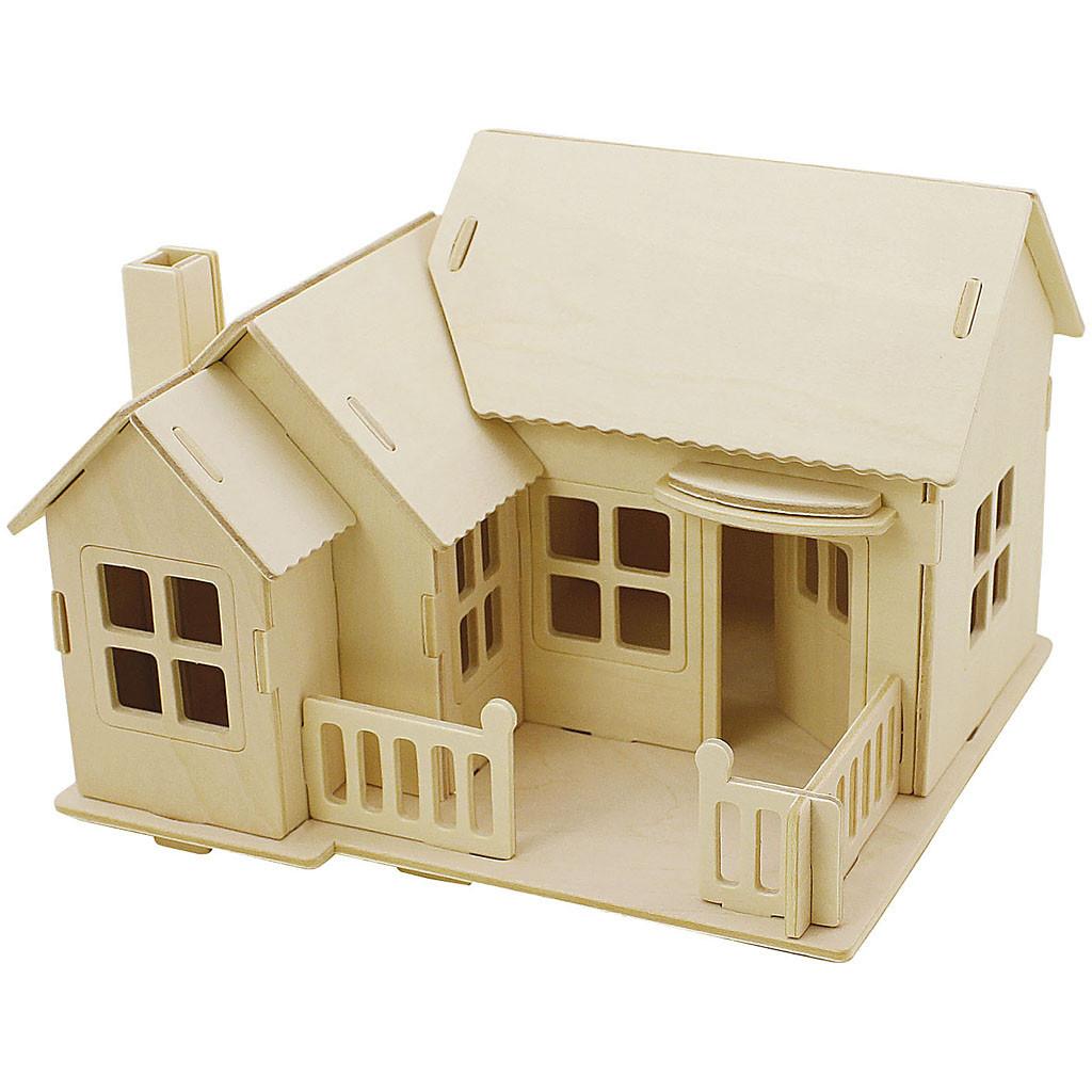 3D Puzzel Huis met Terras
