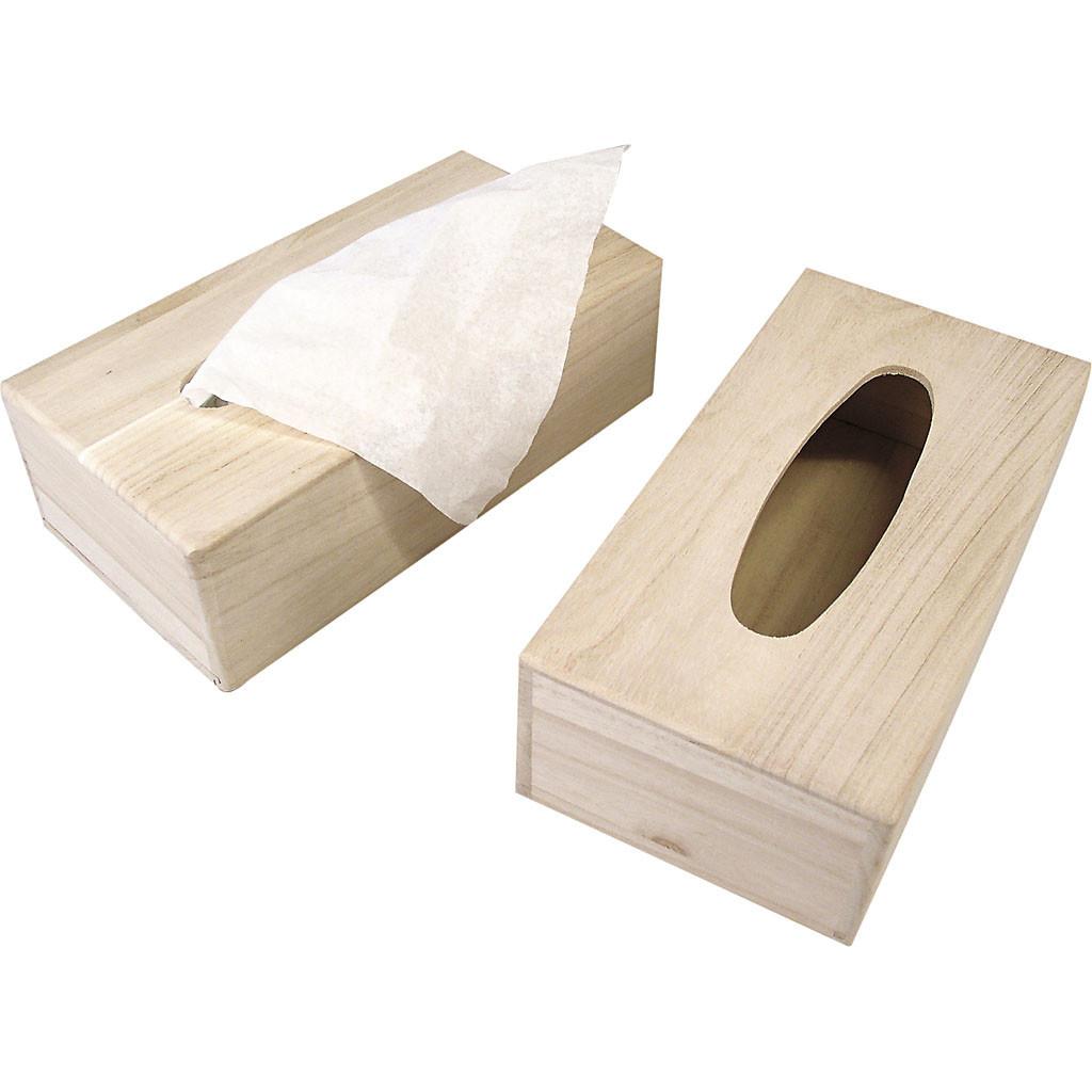 Houten Tissue doos