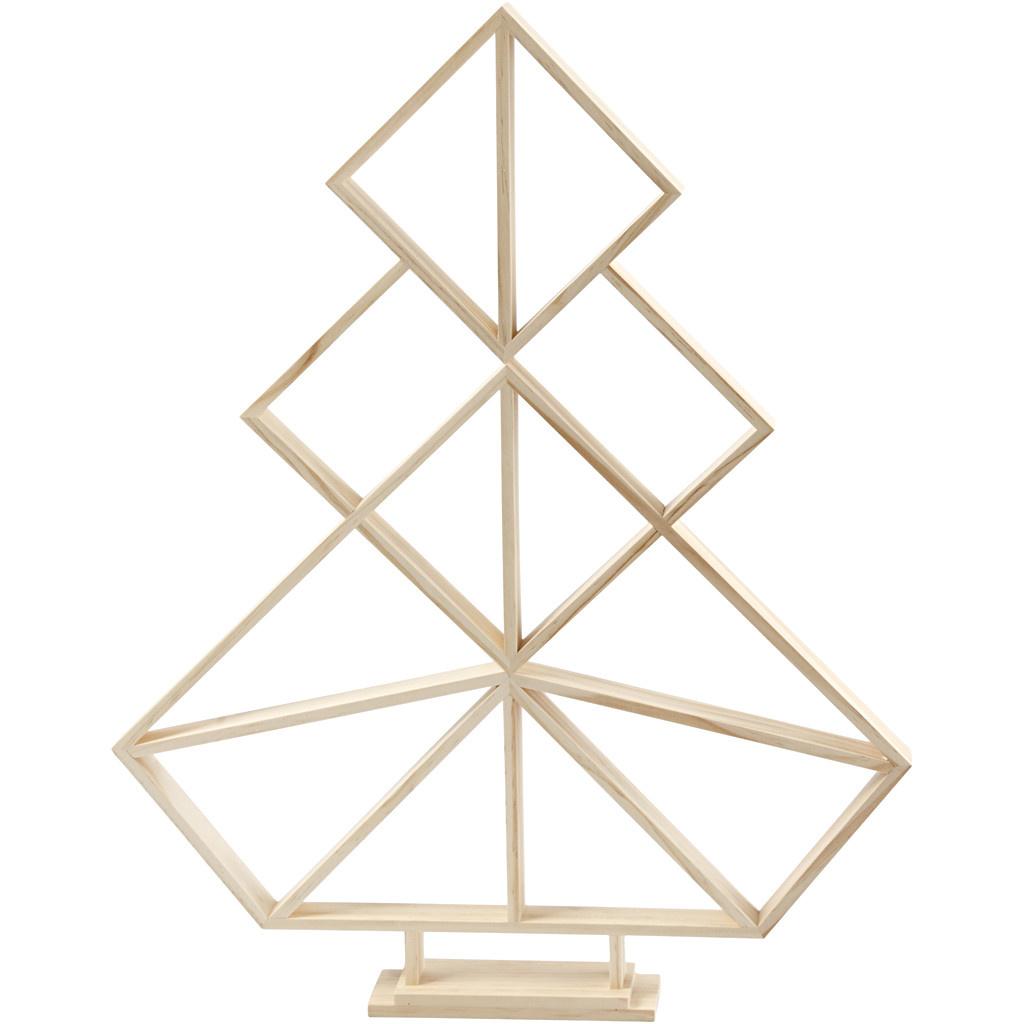 Geometrische Kerstboom Hout