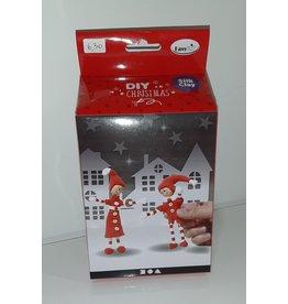 DIY Silk Clay Kerst rode elfjes