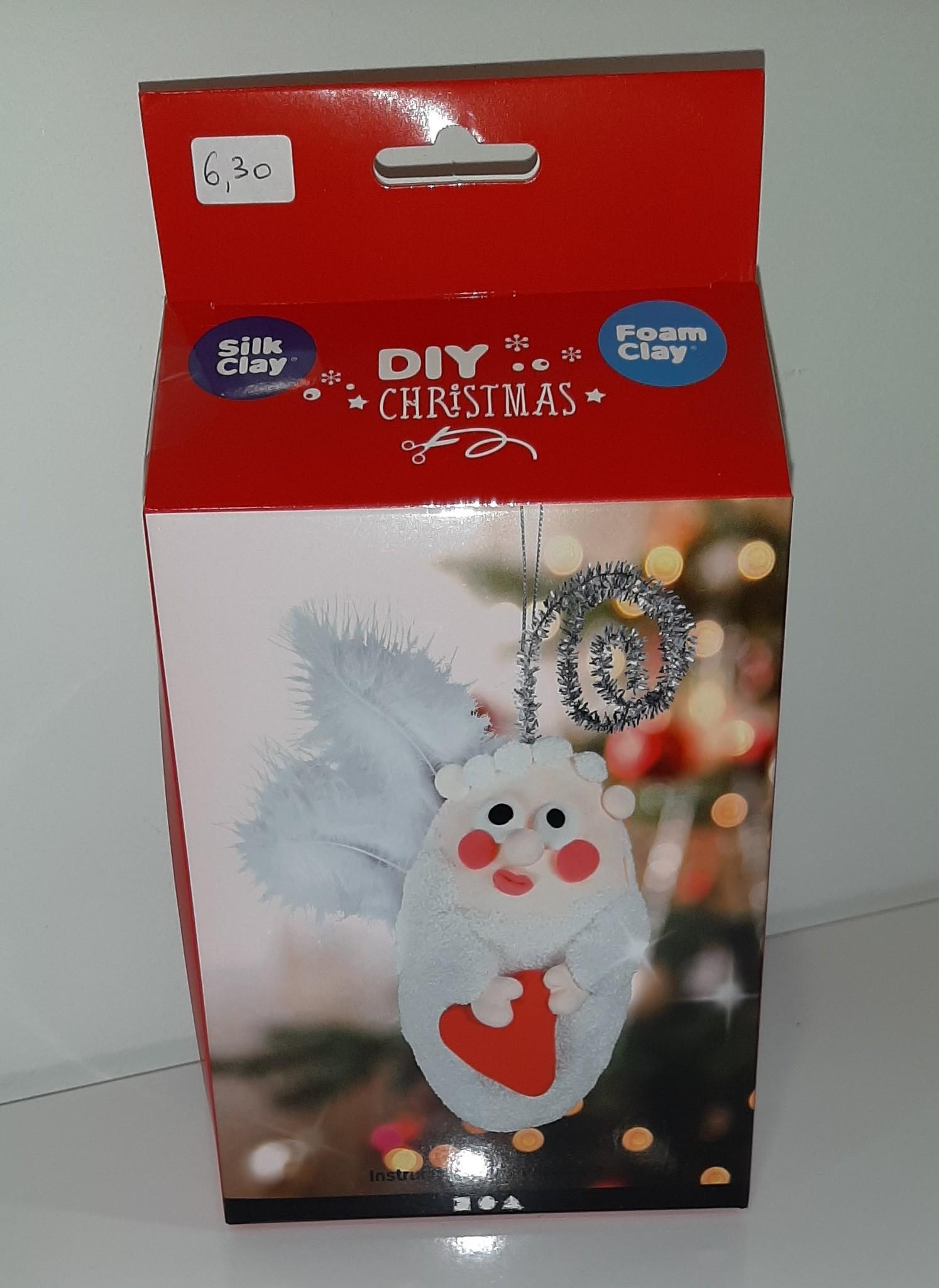 DIY Silk & Foam Clay Kerst Engel hartje