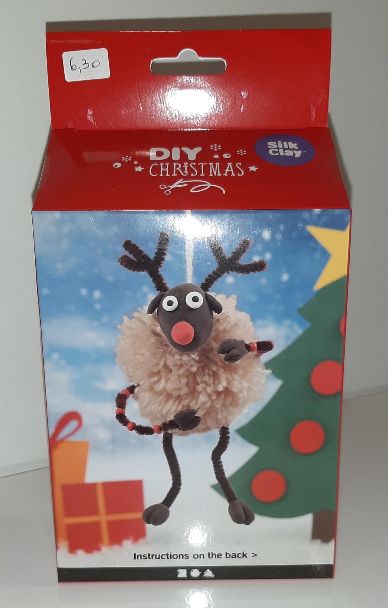 DIY Silk Clay Kerst Funny Friends Rendier