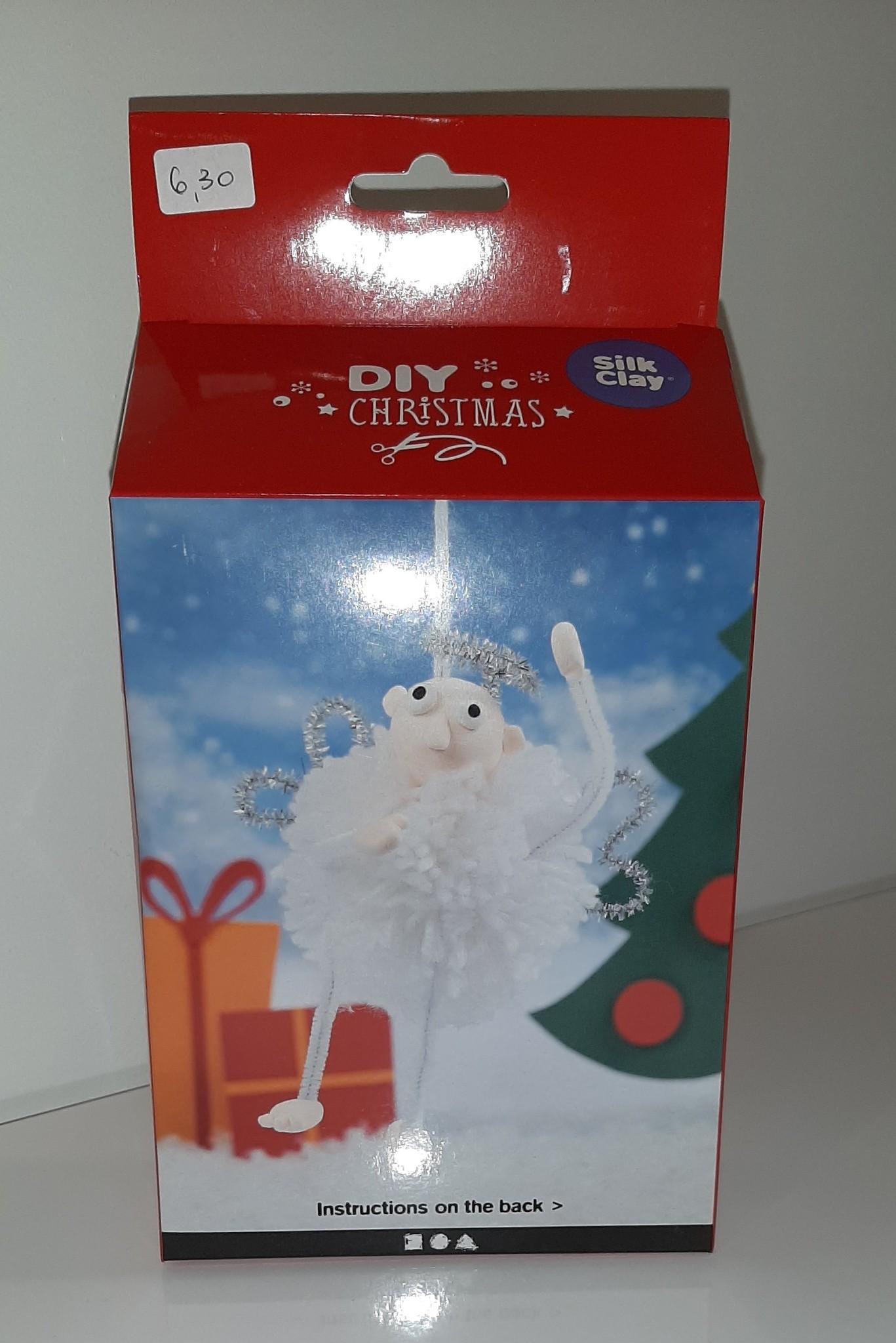 DIY Silk Clay Kerst Funny Friends Elf wit