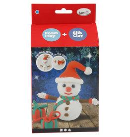 DIY Silk & Foam Clay Kerst Funny Friends sneeuwman
