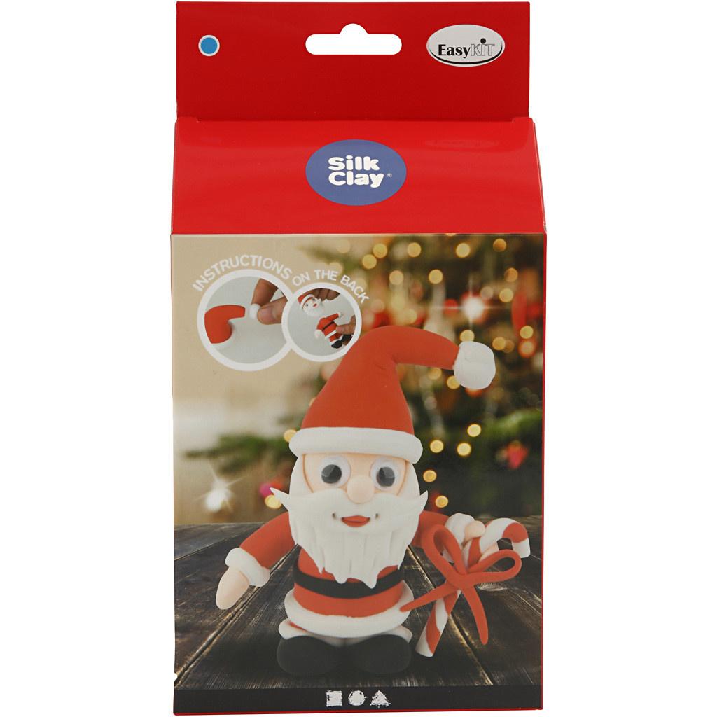 DIY Silk Clay Kerst Funny Friends Kerstman