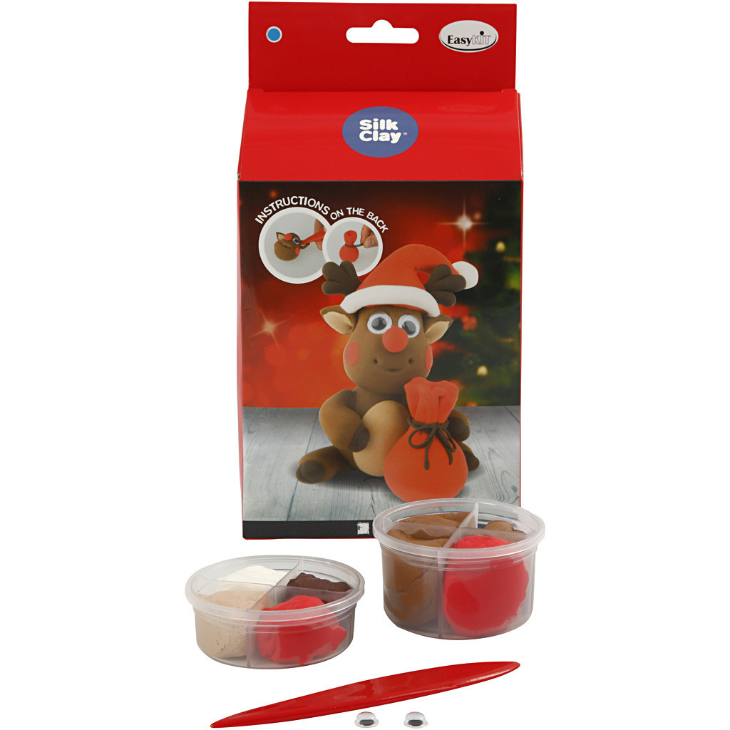 DIY Silk Clay Kerst Funny Friends Rendier