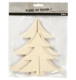 3D Kerstbomen hout