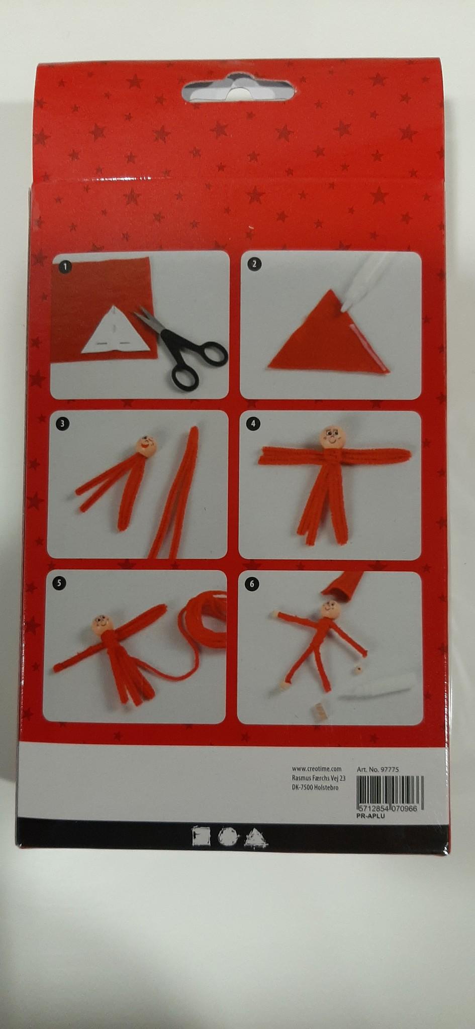 DIY Easykit Kerst 3 rode elfjes