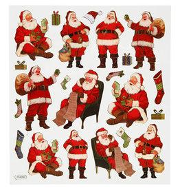 Stickervel Kerstman