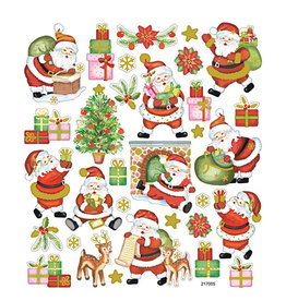Stickervel Vrolijke Kerstman