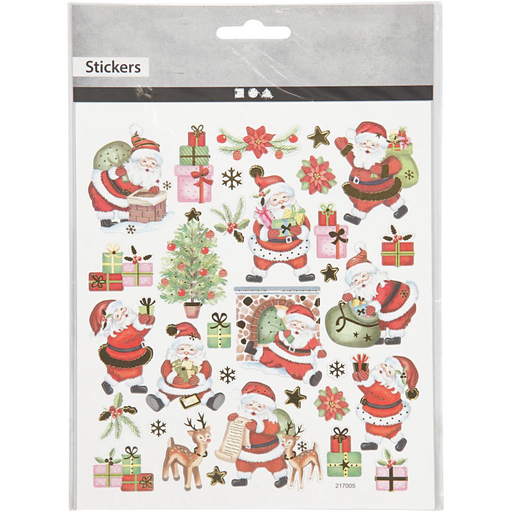 Stickervel Vrolijke Kerstman 15 x 16,5 cm
