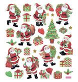 Stickervel Kerstfiguren 15 x 16,5 cm