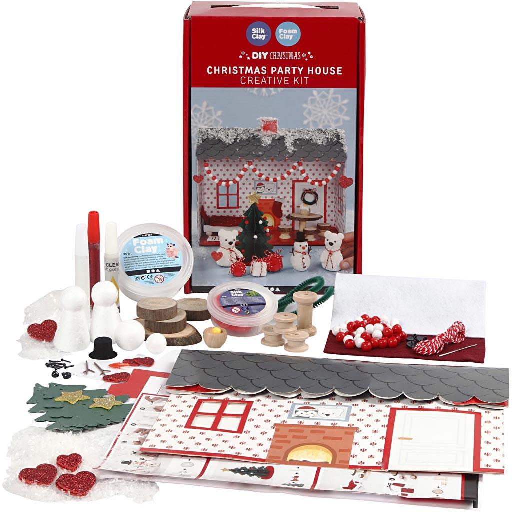 DIY Set Kersthuis Feest