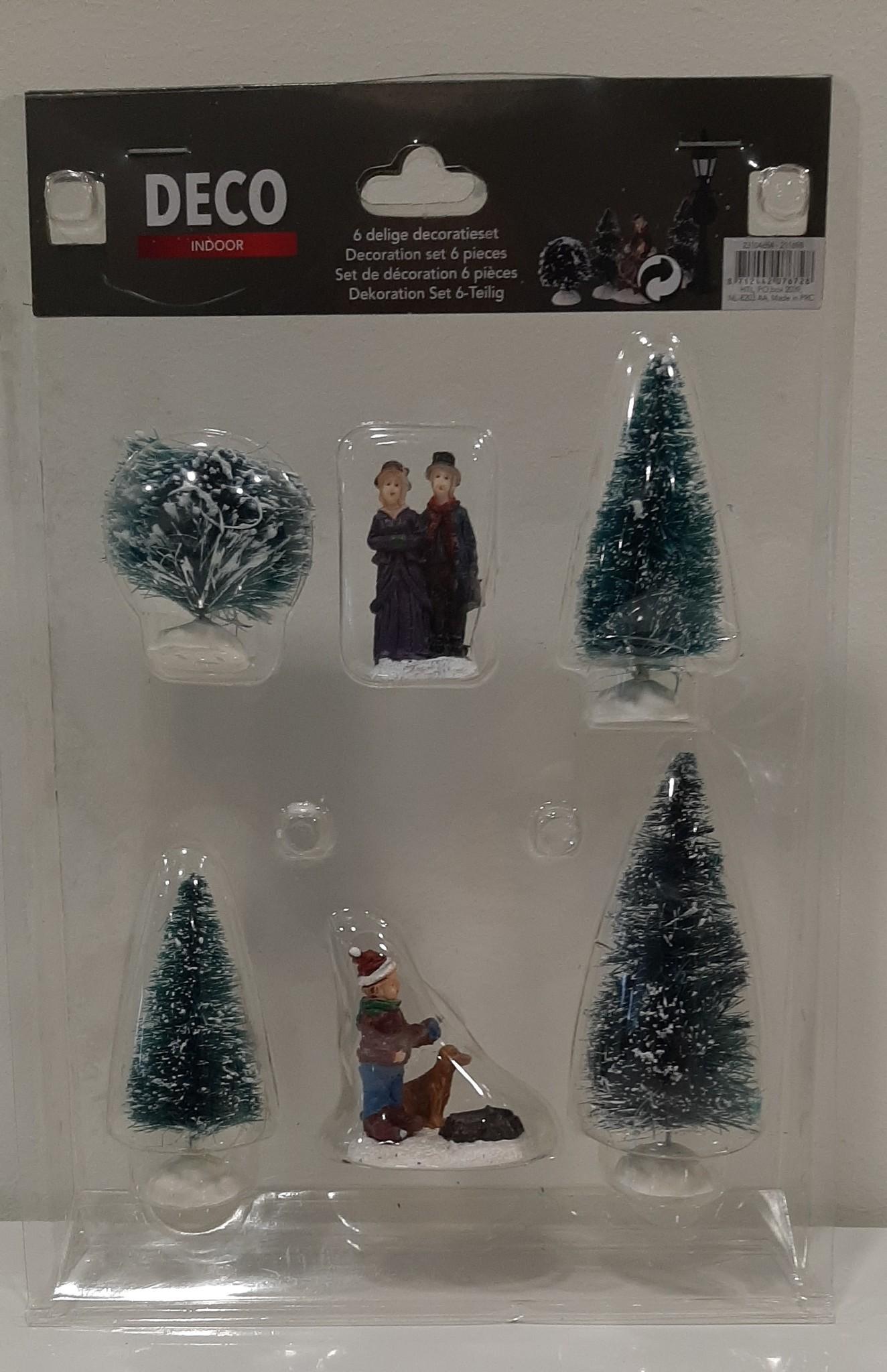 Kerst decoratieset 6-delig