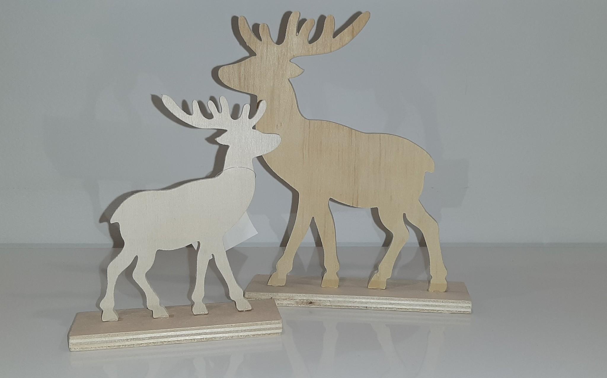 Decoratieset houten rendieren