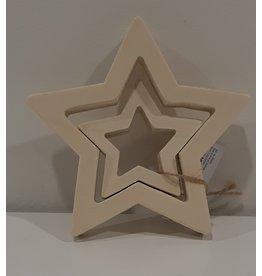 Kerstdecoratie dubbele ster