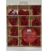 Set met rode vilten Kerstfiguurtjes