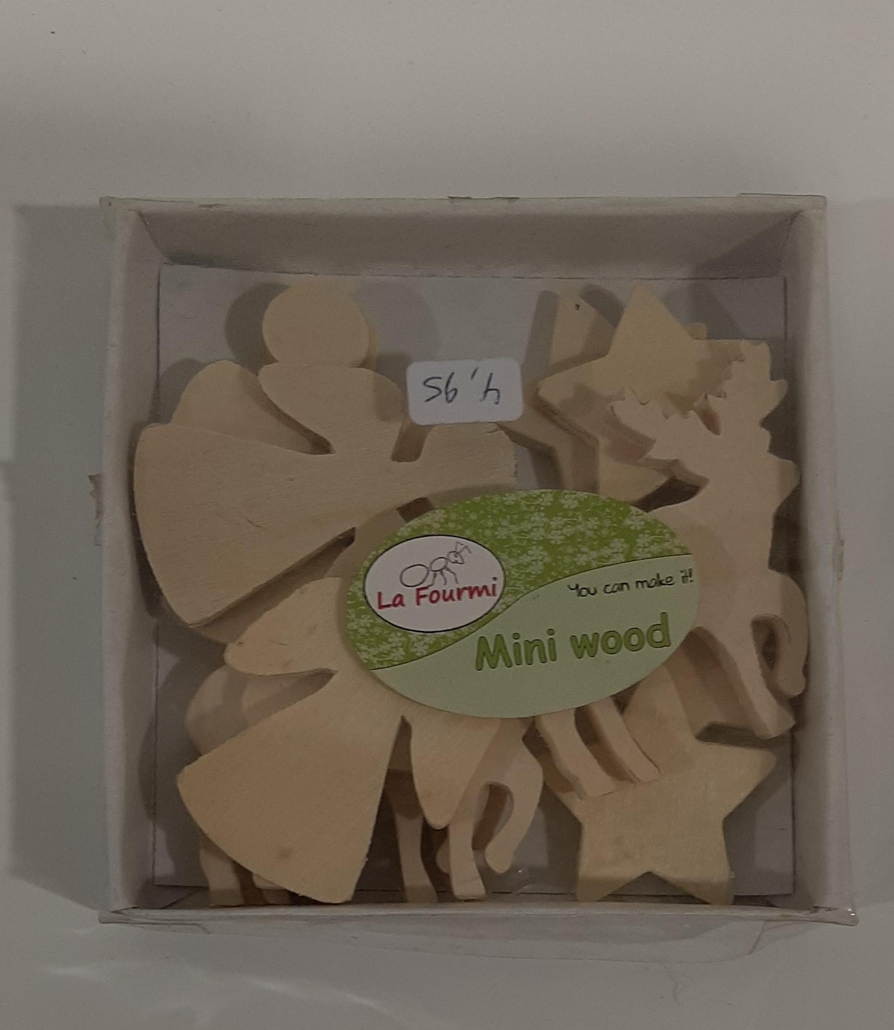 Mini houten kerstfiguurtjes