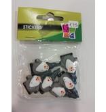 Kerstman 3D Stickers
