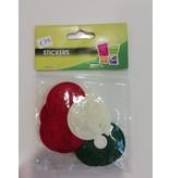 Kerstfiguurtjes stickers in vilt
