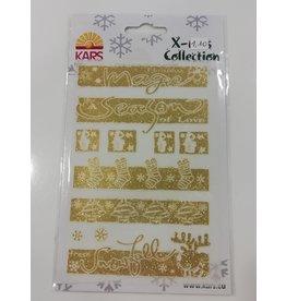 Stickervel Kerst Goud Glitter