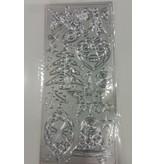 Stickervel Zilver Kerst ornamenten