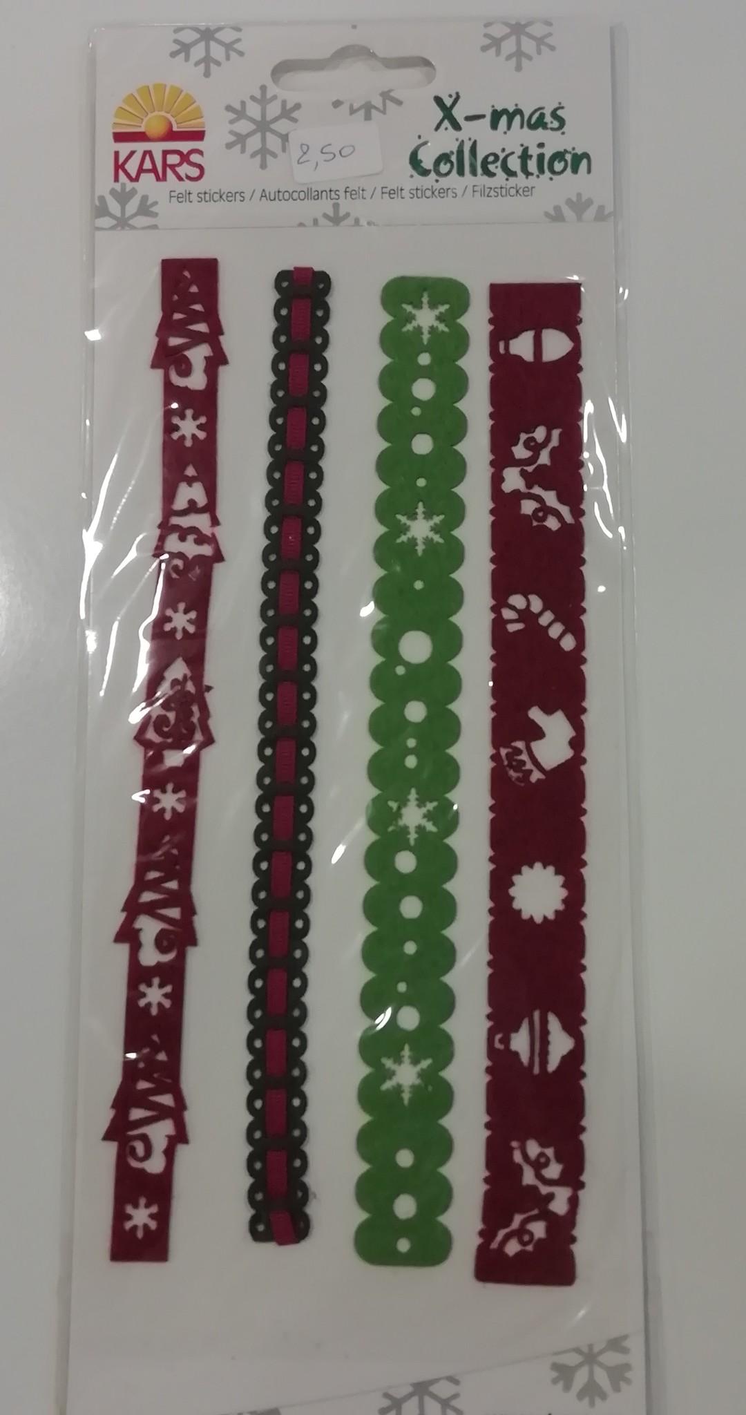 Border Stickervel Thema Kerst