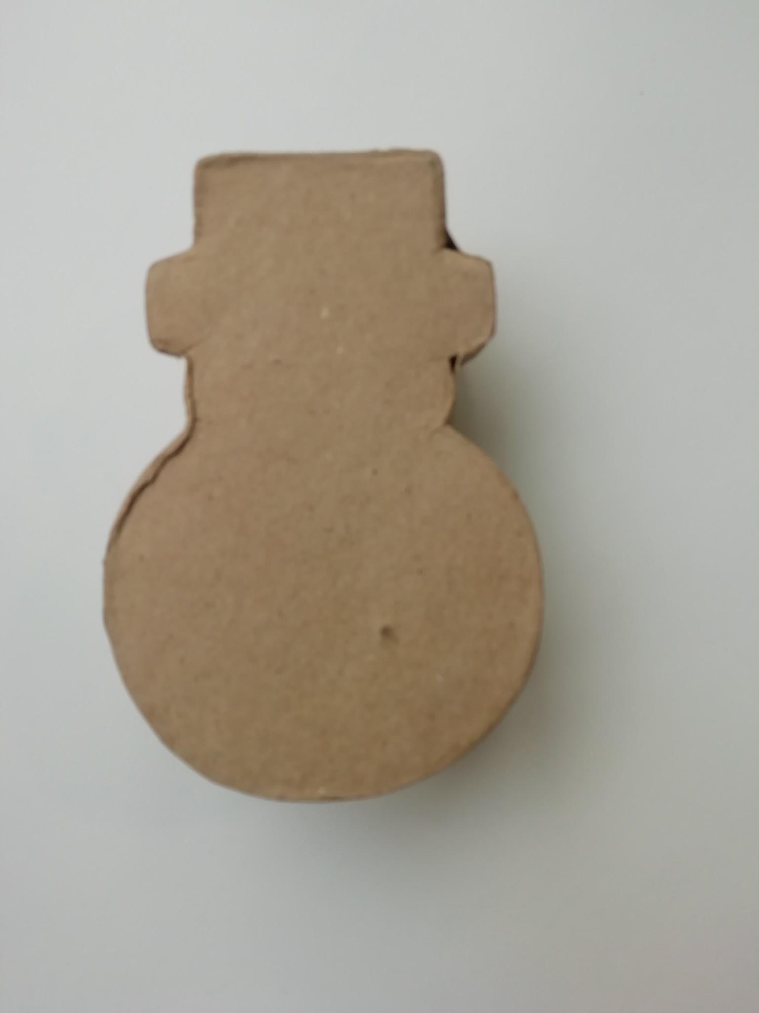 Sneeuwman papier-maché doosje