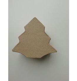 Kerstboom doosje papier-maché